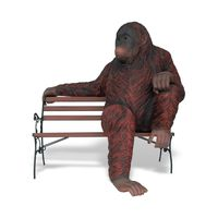 Thumbnail for Orangutan Sculpture on Park Bench